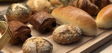 Croissants and different type of bread
